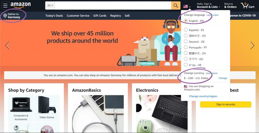 Amazon content personalization
