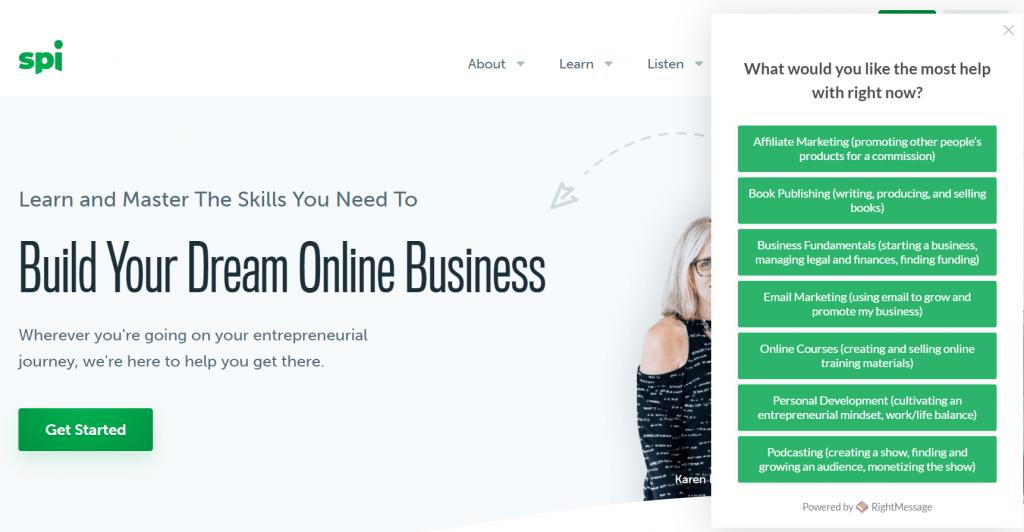 Smart Passive Income content personalization