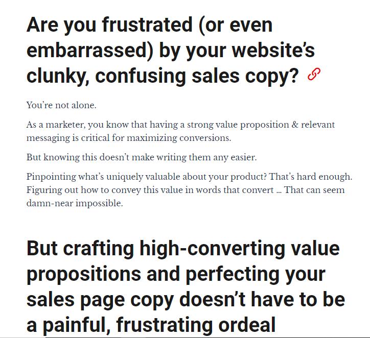 cxl sales copywriting course